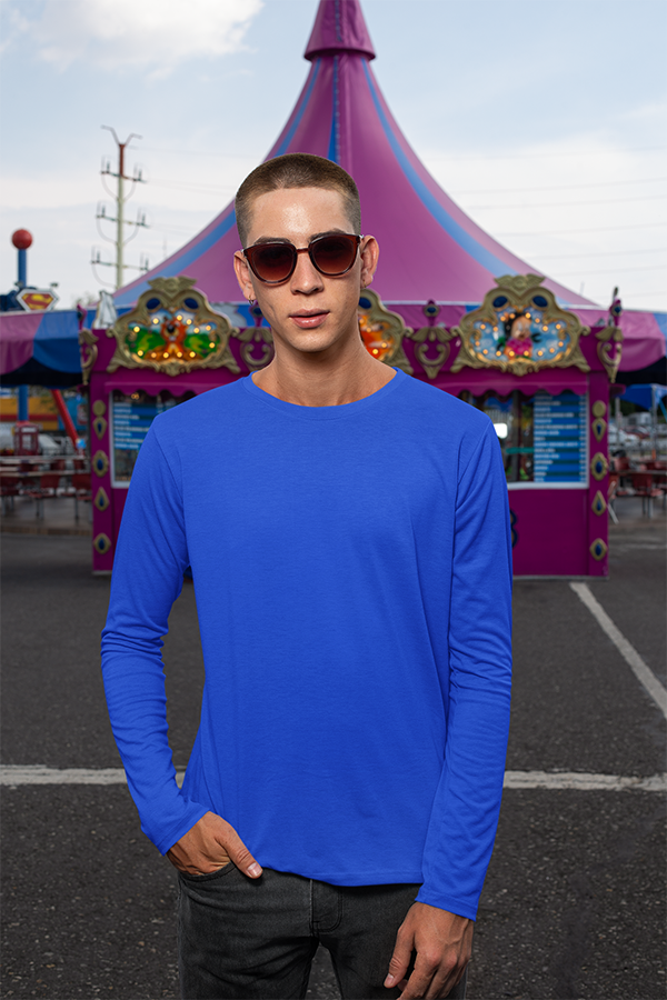 theatomstores1,Men's Full Sleeves - Royal Blue,men's full sleeves