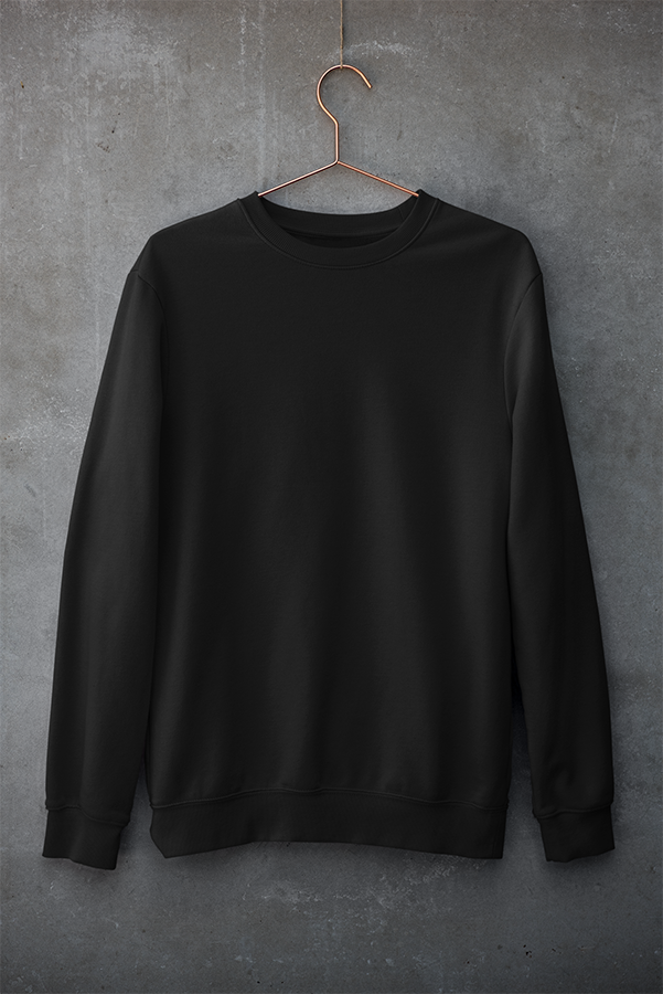Unisex Sweatshirt Black