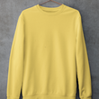 Unisex Sweatshirt Yellow