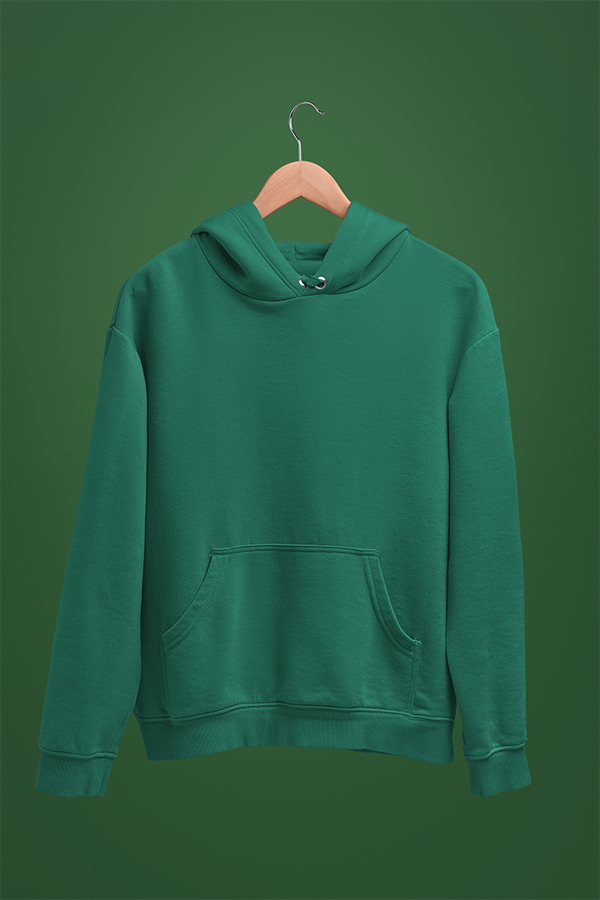 Unisex Hoodies Bottle Green - The Atom Stores