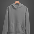 Unisex Hoodies Grey Melange - The Atom Stores