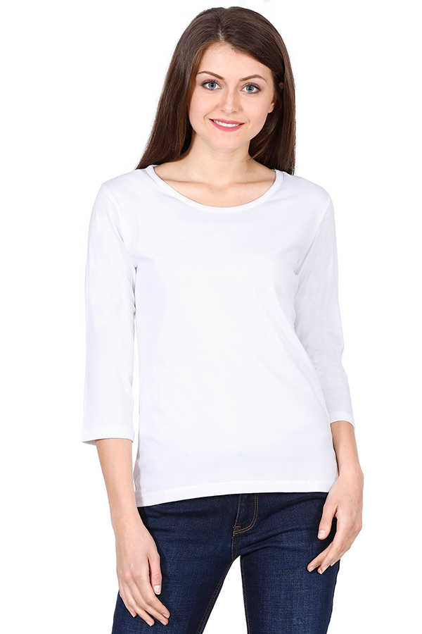 theatomstores1,Woman Plain Full Sleeves - White,Women plain Full sleeves