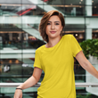 theatomstores1 - Be Simple Woman - Yellow - Qikink - Plain