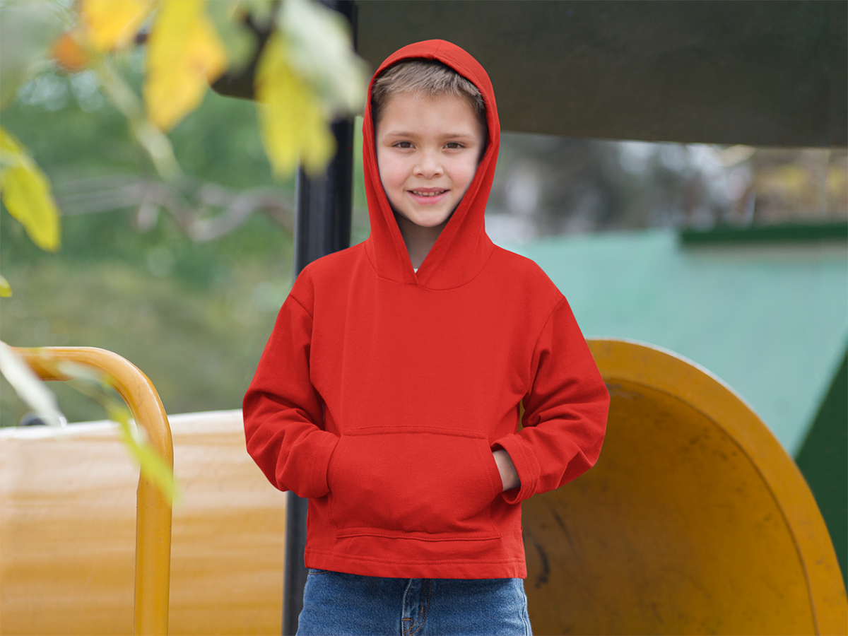 Kids Unisex Hoodies Red - The Atom Stores