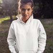 Unisex Hoodies White - The Atom Stores