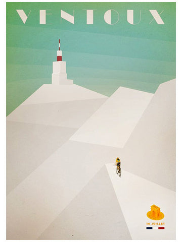 Mont Ventoux finish - Cycling Poster