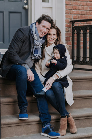founders Jonathan Schofield and Laura Santos, and their daughter Gabriela