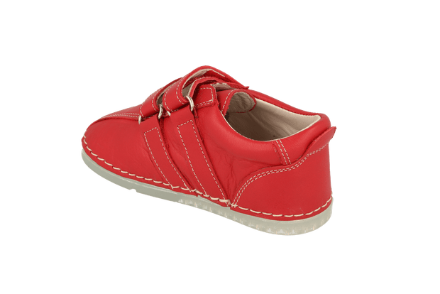 Barcelona Velcro Sneaker in Tomato Leather