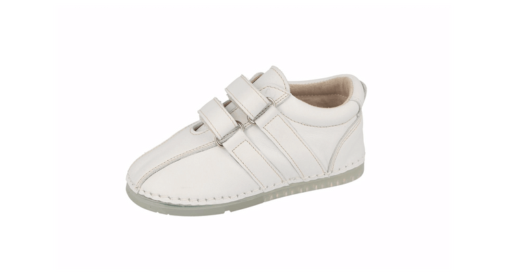 Barcelona Velcro Sneaker in White Leather