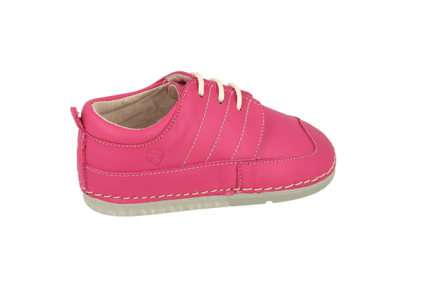 Bilbao Lace Up Sneaker in Magenta Leather
