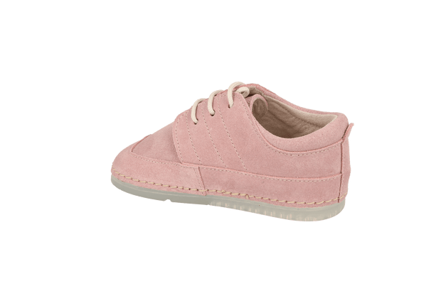 Bilbao Lace Up Sneaker in Pink Suede