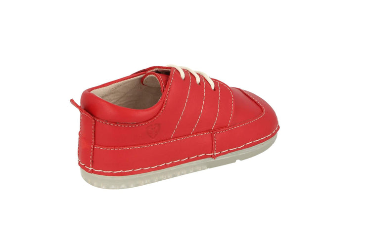 Bilbao Lace Up Sneaker in Tomato Leather