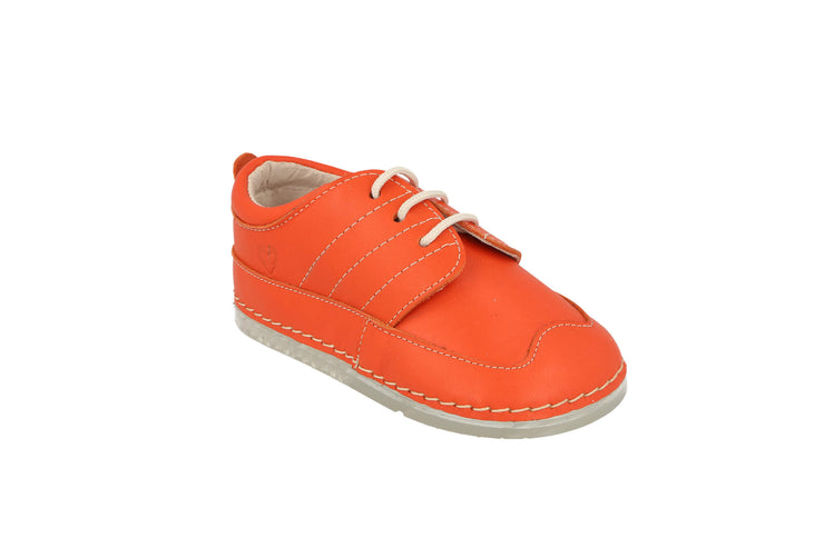 Bilbao Lace Up Sneaker in Tangerine Leather