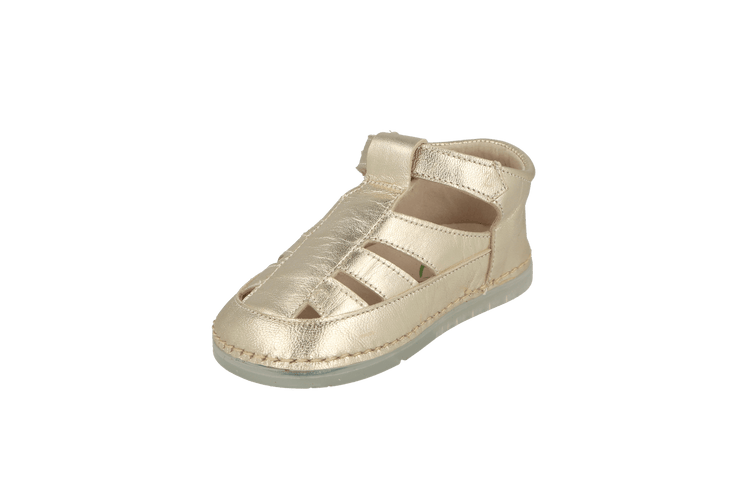 Ibiza Sandal in Champagne Metallic Leather