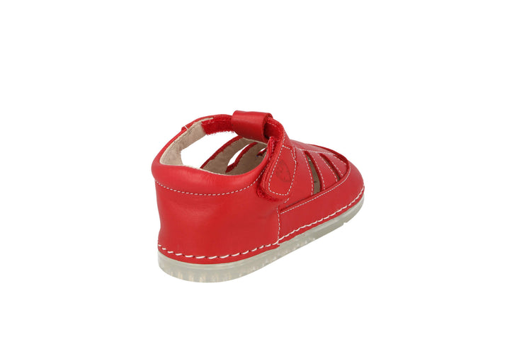 Ibiza Sandal in Tomato Leather