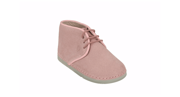 Leon Desert Boot in Pink Suede