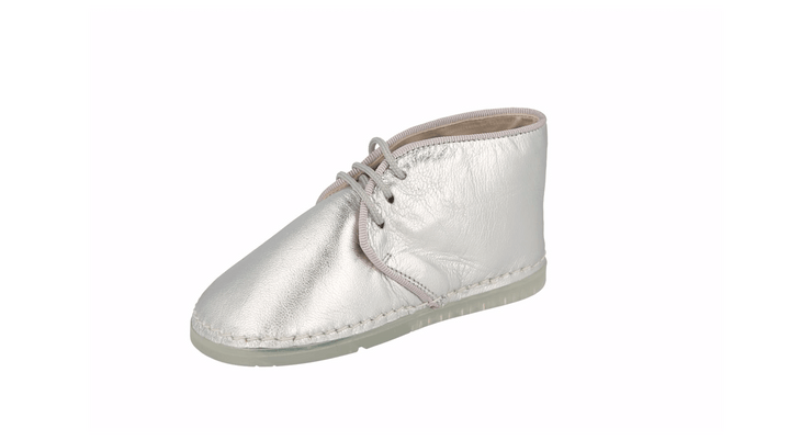 Leon Desert Boot in Silver Leather