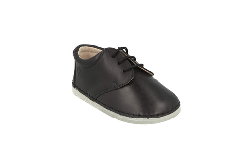 Lorca Lace Up Shoe in Black Leather