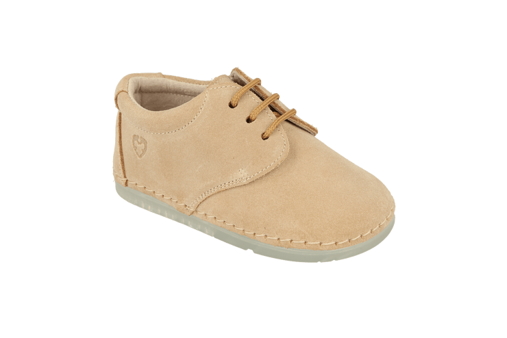 Lorca Lace Up Shoe in Sand Suede