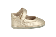 Madrid Velcro Mary Jane in Champagne Metallic Leather