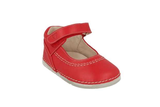 Madrid Velcro Mary Jane in Tomato Leather