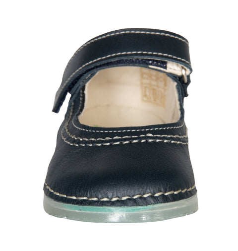 Madrid Velcro Mary Jane in Atlantic Leather