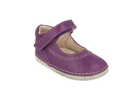 Madrid Velcro Mary Jane in Violet Leather