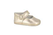 Salamanca Mary Jane in Champagne Metallic Leather