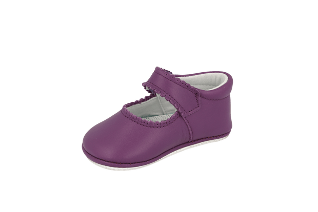 Salamanca Mary Jane in Violet Leather