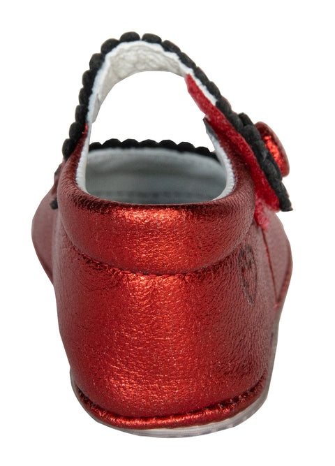 "Salamanca Mary Jane in Metallic ""Dorothy"" Metallic Red Leather"