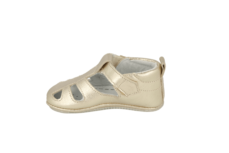 San Sebastian Sandal in Champagne Metallic Leather