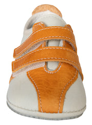 Santa Cruz Sneaker in Bone and Tangerine Leather
