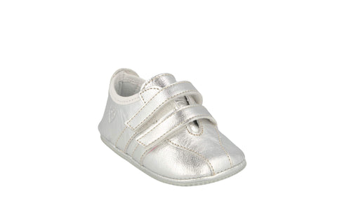 Santander Sneaker in Silver Metallic Leather