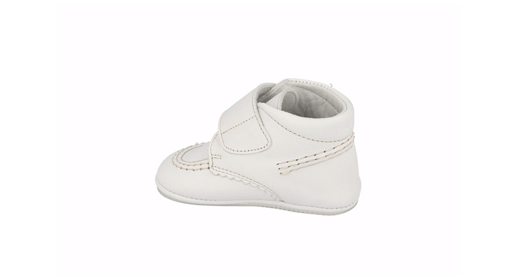 Sax Velcro Bootie in White Leather