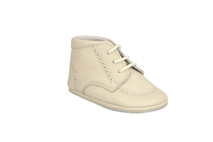 Sevilla Lace Up Bootie in Bone Leather