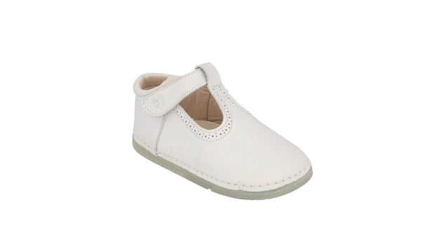 Toledo T-Bar Sandal in White Leather