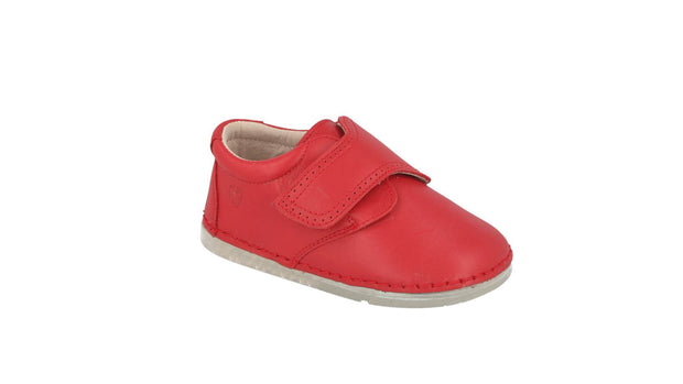 Villena Velcro Monk Shoe in Tomato Leather