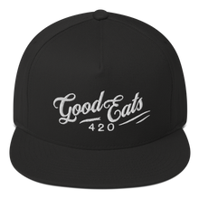 Load image into Gallery viewer, Good Eats 420 Wavy Flat Bill Snapback