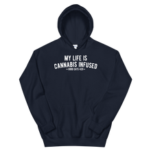 Load image into Gallery viewer, My Life Is Cannabis Infused Unisex Hoodie