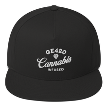 Load image into Gallery viewer, Good Eats 420 Diamond Cannabis Flat Bill Snapback