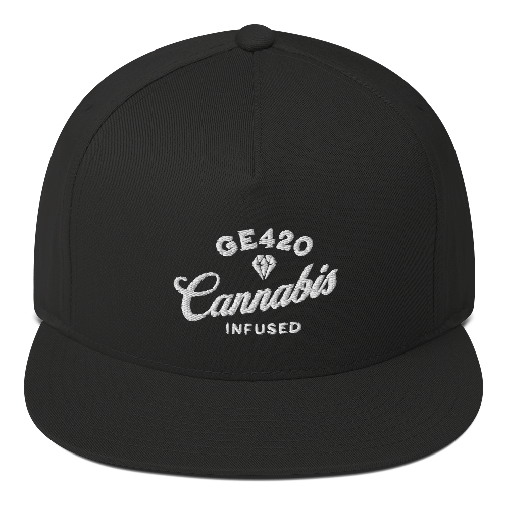 Good Eats 420 Diamond Cannabis Flat Bill Snapback