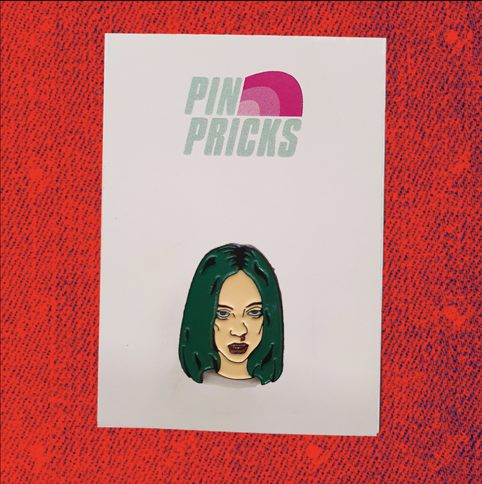 Billie Eillish - Bad Guy Enamel Pin Badge
