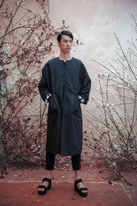 DEATH BLOSSOM FADING HEM COAT - Boy Mode