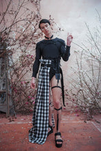 Load image into Gallery viewer, SUPER GINGHAM DECONSTRUCTED HALF SKIRT