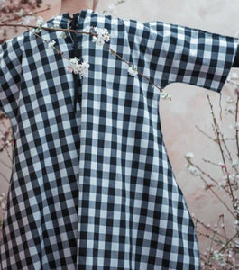 SUPER GINGHAM DECONSTRUCTED UNISEX COCOON DRESS - Boy Mode