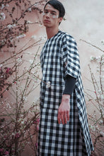 Load image into Gallery viewer, SUPER GINGHAM DECONSTRUCTED UNISEX COCOON DRESS - Boy Mode