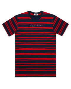 DESIGN PHILOSOPHY T-SHIRT IN RED STRIPES (PRE-ORDER) - Boy Mode