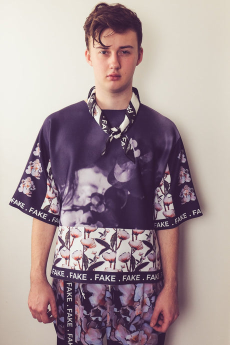 FAKE BOY NEOPRENE TEE - Boy Mode