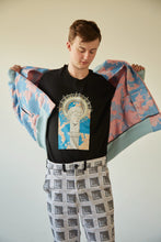 Load image into Gallery viewer, SUPERSKY JACQUARD BOMBER W/ XL CROSS-STITCHED ANGEL PATCH - Boy Mode
