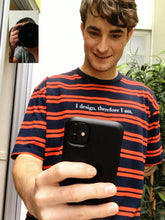 Load image into Gallery viewer, DESIGN PHILOSOPHY T-SHIRT IN RED STRIPES (PRE-ORDER) - Boy Mode